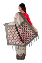 Grey-all-body-multi-coloured-block-printed-saree-SNCS1126-4