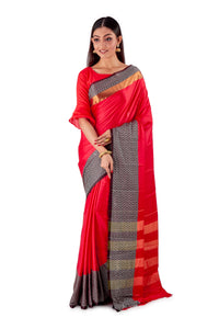 Red-&-black-block-printed-resham-suti-saree-SNCS1127-1