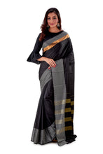 Black-block-printed-resham-suti-saree-SNCS1128-1