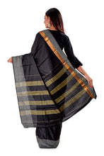 Black-block-printed-resham-suti-saree-SNCS1128-4