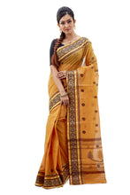 Fire Orange Dhaniakhali Traditional Tant Saree - Saree