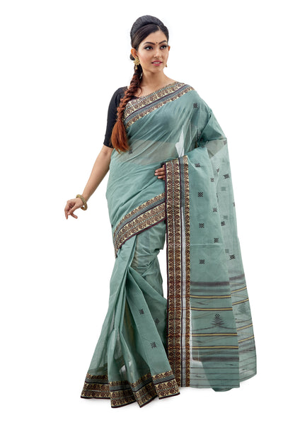 Dhaniakhali Tant Saree-SNDT1101-1