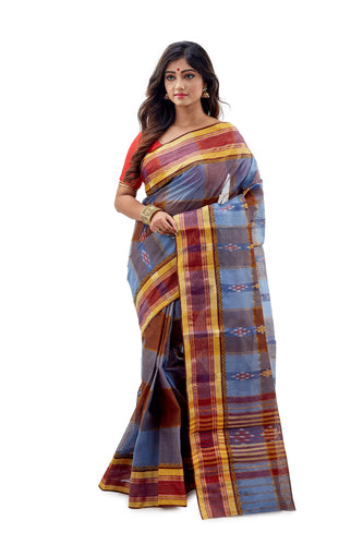 Dhaniakhali Tant Saree-SNDT1102-1