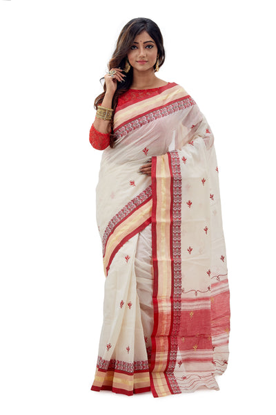 Dhaniakhali Tant Saree-SNDT1201-2