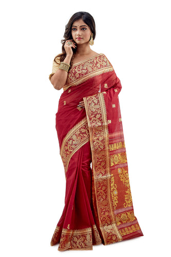 Dhaniakhali Tant Saree-SNDT1301-1