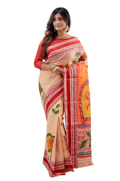 Dhaniakhali Tant Saree-SNDT1501-2