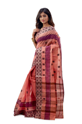 Dhaniakhali Tant Saree-SNDT1802-3