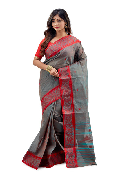 Dhaniakhali Tant Saree-SNDT1901-2