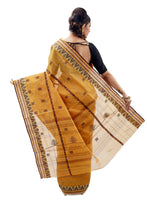 Fire Orange Dhaniakhali Traditional Tant Saree