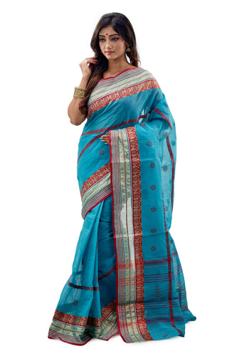Dhaniakhali Tant Saree-SNDT2102-2