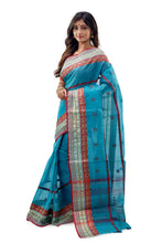 Bright Blue Dhaniakhali Traditional Tant Saree - Saree