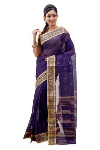 Dhaniakhali Tant Saree-SNDT2701-1