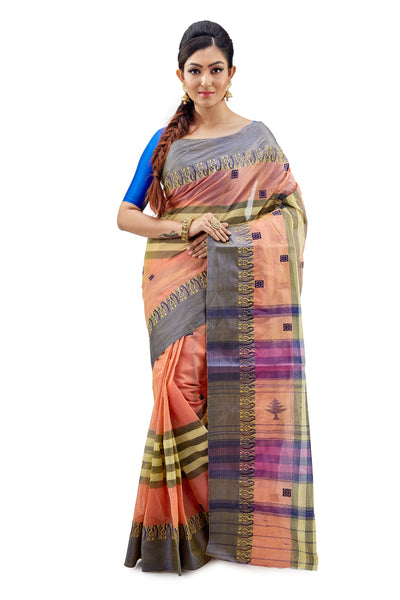 Dhaniakhali Tant Saree-SNDT4001-1
