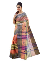 Multi-Coloured Traditional Dhaniakhali Tant Saree - Saree