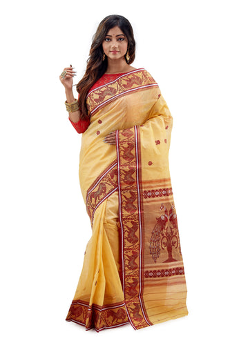 Dhaniakhali Tant Saree-SNDT8001-1