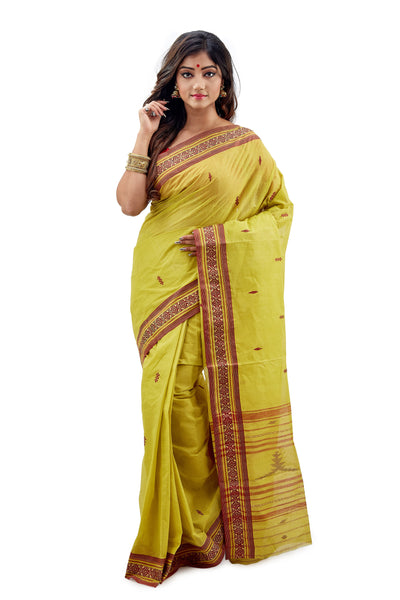 Summer Lime Dhaniakhali Tant Saree