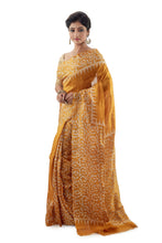 Mustard Murshidabadi Pure Silk - Saree
