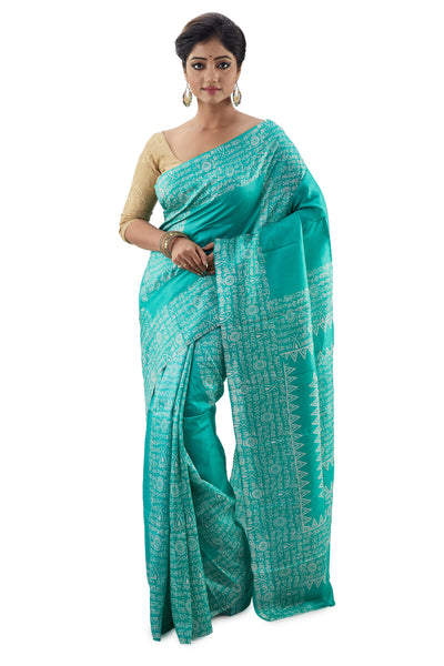 Fern Green Murshidabadi Pure Silk