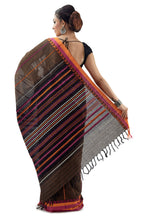 Coffee Coloured Begumpuri Handloom Designer Saree - Saree