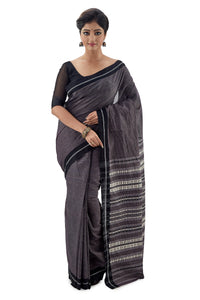 Grey Begumpuri Handloom Designer Saree