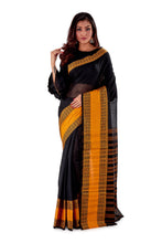 Black-with-Golden-Border-Designer-Begumpuri-Saree-SNHB1702-1