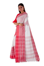 White-base-with-Thick-multicoloured-Border-Designer-Begumpuri-Saree-SNHB1703-3