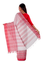 White-base-with-Thick-multicoloured-Border-Designer-Begumpuri-Saree-SNHB1703-4