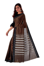 Chocklate-with-black-Border-Designer-Begumpuri-Saree-SNHB1705-3