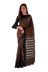 Chocklate-with-black-Border-Designer-Begumpuri-Saree-SNHB1705-1