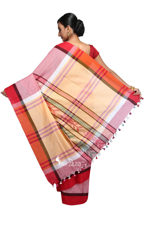 Handloom Cotton Fish Saree - Saree