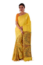 Yellow-Madhubani-Cotton-Designer-Saree-SNHK1403-1