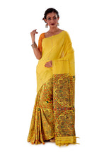 Yellow-Madhubani-Cotton-Designer-Saree-SNHK1403-2