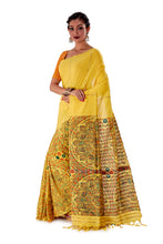 Yellow-Madhubani-Cotton-Designer-Saree-SNHK1403-3