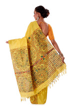 Yellow-Madhubani-Cotton-Designer-Saree-SNHK1403-4