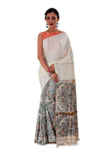 Grey-Madhubani-Cotton-Designer-Saree-SNHK1404-2