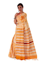 Off-white-base-Batik-Cotton-Designer-Saree-SNHK1502-3