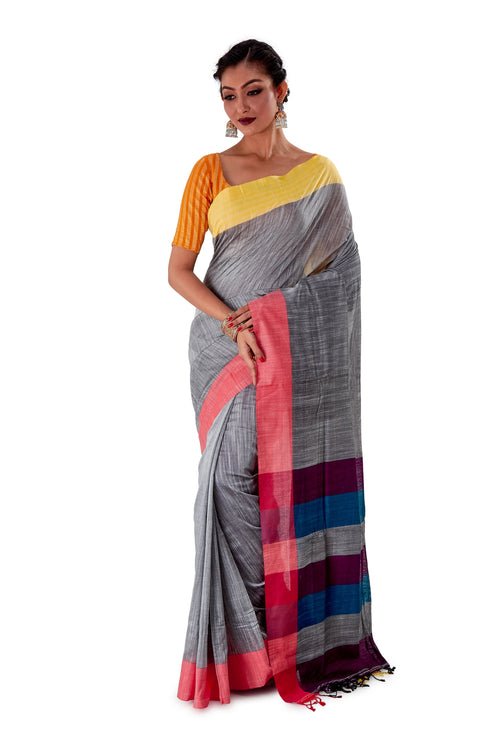 Multi-coloured-Khadi-Cotton-Designer-Saree-SNHK1603-2