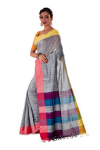 Multi-coloured-Khadi-Cotton-Designer-Saree-SNHK1603-3
