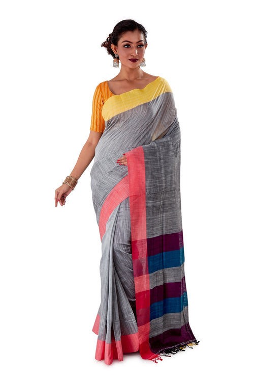 Multi-coloured-Khadi-Cotton-Designer-Saree-SNHK1603-1