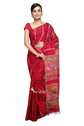 Wax Batik On Cotton Khesh Saree - Saree