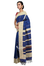 Rhymes Applique On Blue Khesh - Saree
