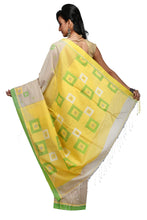 Golden Handloom Mixed Cotton Box Design Saree - Saree