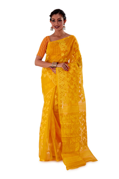 Yellow-Traditional-Dhakai-Jamdani-SNJMA3003-1
