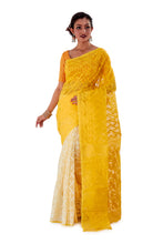 Yellow-Traditional-Dhakai-Jamdani-SNJMA4001-2