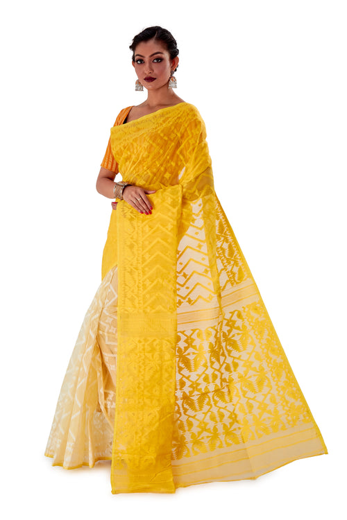 Yellow-Traditional-Dhakai-Jamdani-SNJMA4001-3