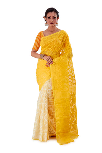 Yellow-Traditional-Dhakai-Jamdani-SNJMA4001-1
