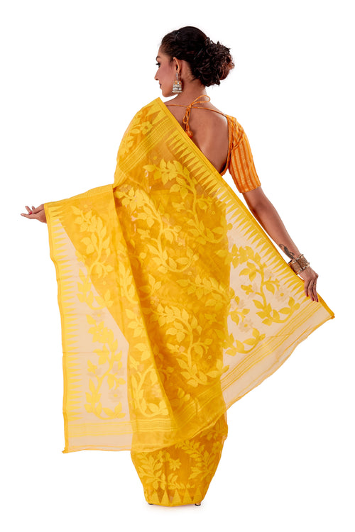 Yellow-Traditional-Dhakai-Jamdani-SNJMA4002-4