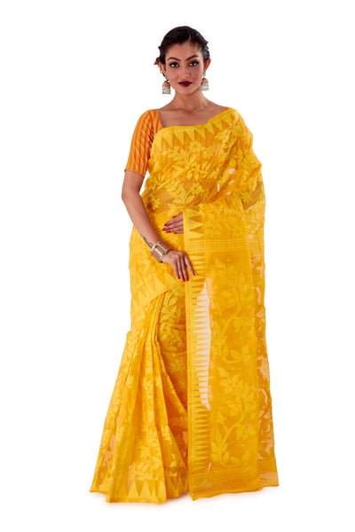 Yellow-Traditional-Dhakai-Jamdani-SNJMA4002-1