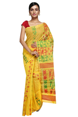 Multi-Coloured Dhakai Jamdani - Saree