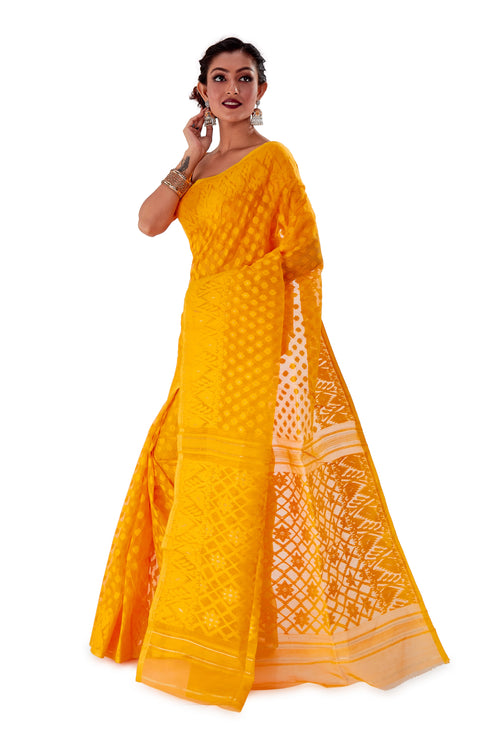 Yellow-Traditional-Dhakai-Jamdani-SNJMB3001-3